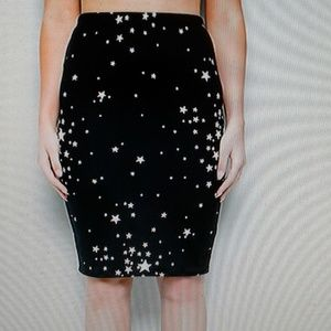 Star Pattern Pencil skirt